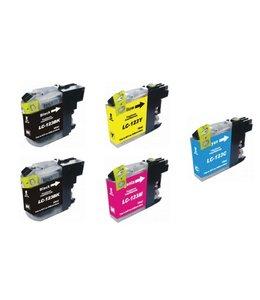 Huismerk Brother LC-123 Multipack zwart en kleur Inktjet cartridge 5 stuks