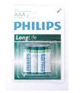 Huismerk Philips batterijen 4x AAA