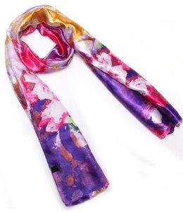 Huismerk Olieverfschilderij Lotus Pattern Sjaal Paars