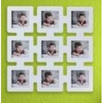 9 Vierkant Foto Frame Wit
