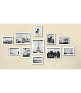 Huismerk Muur Houten Foto Frame 11 stuks Wit