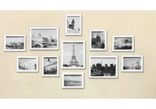 Muur Houten Foto Frame 11 stuks Wit