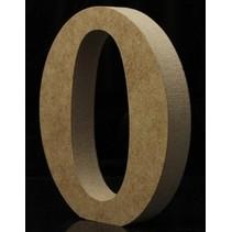 Houten Letter O 10 x 1,5 cm