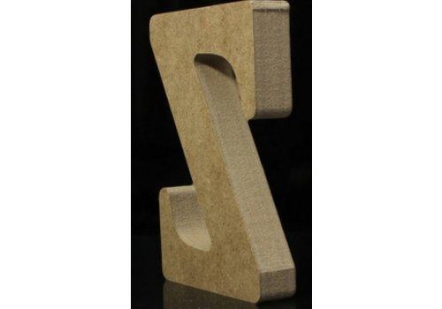 Houten Letter Z 10 x 1,5 cm