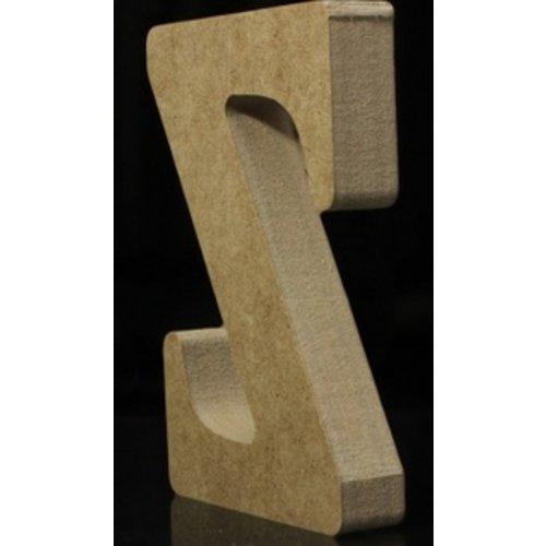 Huismerk Houten Letter Z 10 x 1,5 cm