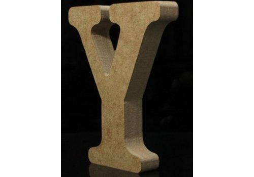 Houten Letter Y 10 x 1,5 cm