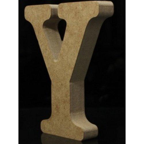Huismerk Houten Letter Y 10 x 1,5 cm