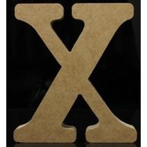 Houten Letter X 10 x 1,5 cm