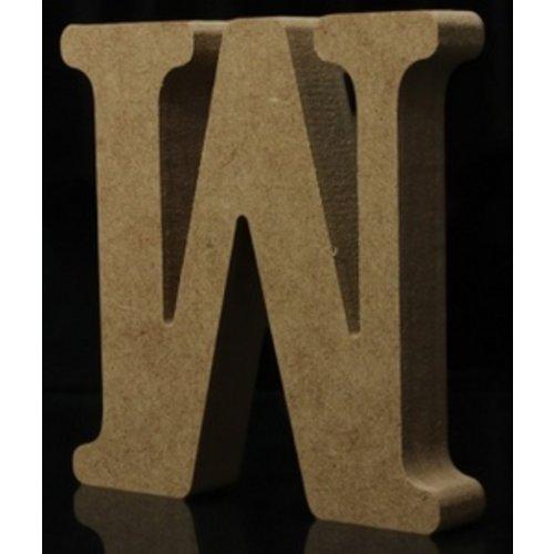 Huismerk Houten Letter W 10 x 1,5 cm