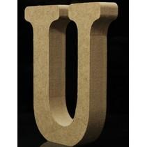 Houten Letter U 10 x 1,5 cm