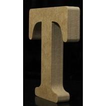 Houten Letter T 10 x 1,5 cm