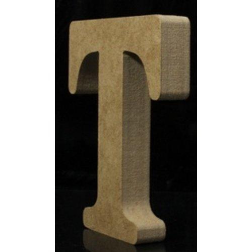 Huismerk Houten Letter T 10 x 1,5 cm