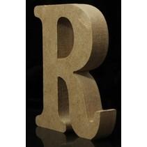 Houten Letter R 10 x 1,5 cm