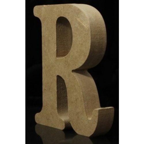 Huismerk Houten Letter R 10 x 1,5 cm
