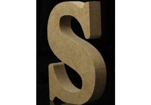 Houten Letter S 10 x 1,5 cm