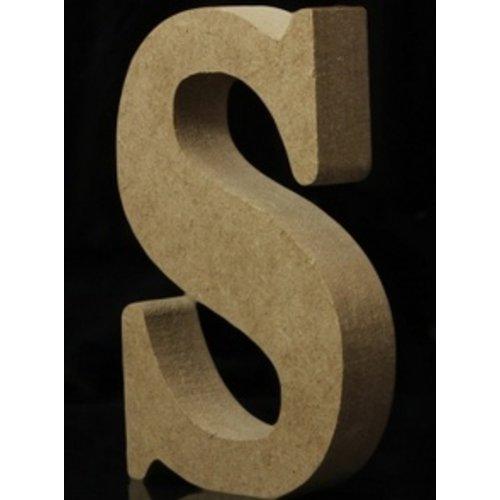 Huismerk Houten Letter S 10 x 1,5 cm