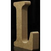 Houten Letter L 10 x 1,5 cm
