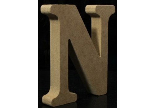 Houten Letter N 10 x 1,5 cm