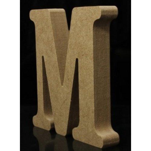Huismerk Houten Letter M 10 x 1,5 cm