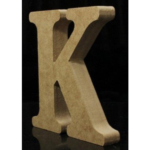 Huismerk Houten Letter K 10 x 1,5 cm