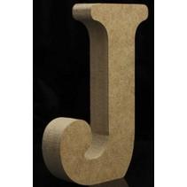 Houten Letter J 10 x 1,5 cm