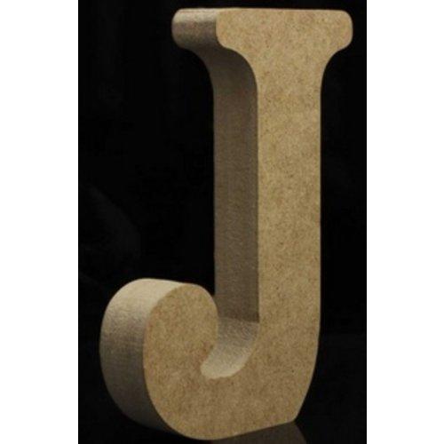 Huismerk Houten Letter J 10 x 1,5 cm