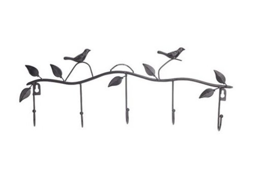 Vogel Tuin Binnenhuis Kapstok Brons