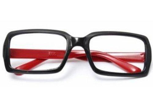 Huismerk Bril Frame Zonder lenzen Rood
