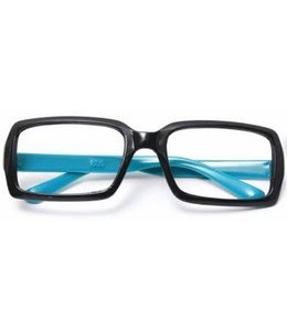 Huismerk Bril Frame Zonder lenzen Blauw