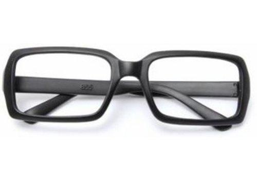 Huismerk Bril Frame Zonder lenzen Zwart