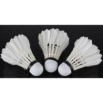 Shuttles Badminton 79 Witte ganzenveren 3 Stuks