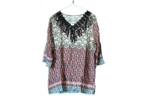 Shirt Patronen Tuniek Rood L/XL