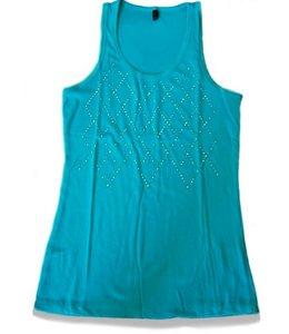 Huismerk T-Shirt Steentjes Aqua S/M