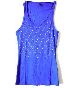 Huismerk T-Shirt Steentjes Blauw L/XL