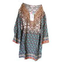 Shirt Patronen Bruin M/L