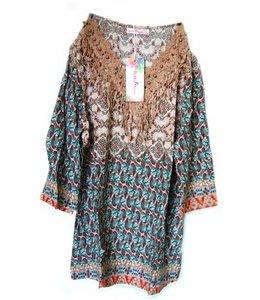Huismerk Shirt Patronen Bruin M/L