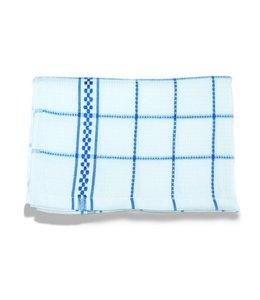 Huismerk Theedoeken 50x70 cm Wit/Blauw