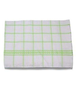 Huismerk Theedoeken 50x70 cm Wit/Groen