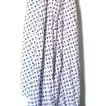 Lange Kleine Blaatjes Sjaal Pareo Donker Blauw