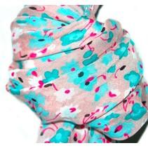 Sjaal roze/blauw