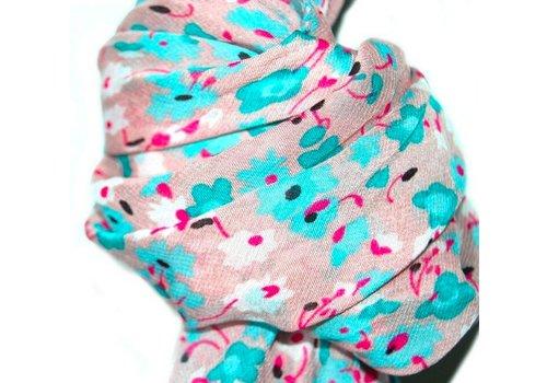 Huismerk Sjaal roze/blauw