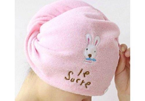 Huismerk Haar Handdoek Roze + Borduurwerk