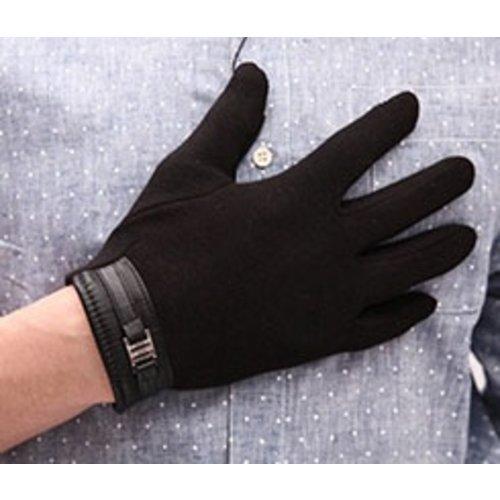 Huismerk Coral gevoerde Touch Screen Handschoenen Zwart