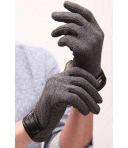Huismerk Coral gevoerde Touch Screen Handschoenen Grijs
