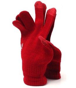 Huismerk Gloves Touch Handschoenen Bordeaux Rood