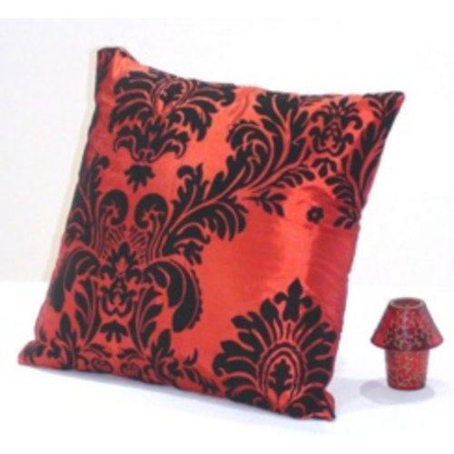 Huismerk Vierkante Sier-Kussenhoes Bordeaux Rood