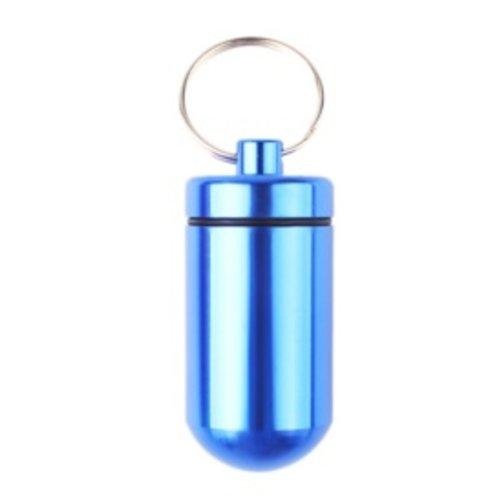 Huismerk Pillenhouder BIG Blauw 5,5 x 2,5 x 2.5 cm