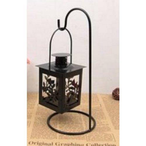 Huismerk Antique Kandelaar Flower Zwart