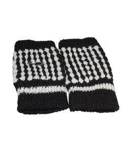 Huismerk Vinger Vrij Handschoenen Zwart