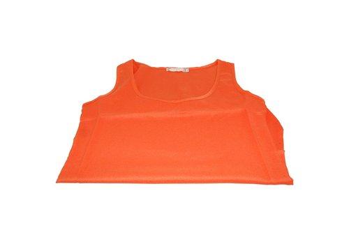 Koningsdag Zomer Candy Chiffon T-shirt Oranje M